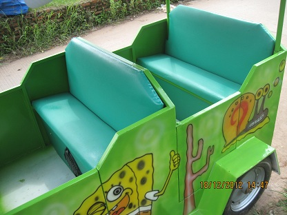 Tempat duduk (busa dibalut kain jok)